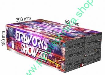 Fireworks show 200 color